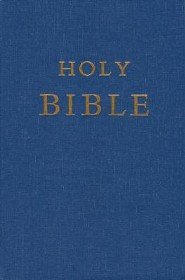 Pew Bible-NRSV, Paper Over Board, Navy