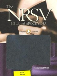 Pocket Bible-NRSV, Leather, Black