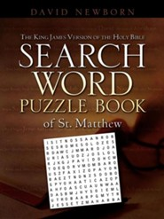 The King James Version of the Holy Bible Search Word Puzzle Book of St. Matthew  -     By: David Newborn