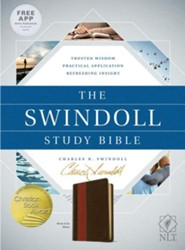 The NLT Swindoll Study Bible, Soft Imitation Leather, Brown/Tan