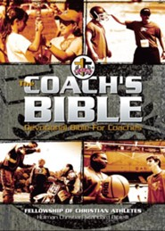 The FCA Coach's Bible: HCSB Devotional Bible for Coaches, Black Imitation Leather