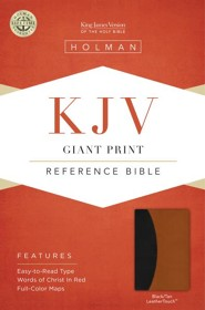 KJV Giant Print Reference Bible, Black and Tan Imitation Leather, Thumb-Indexed