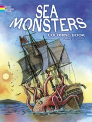Sea Monsters Coloring Book  -     By: Peter F. Copeland