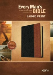 NIV Every Man's Bible, Large-Print; Imitation leather, Black  & Brown  -     By: Stephen Arterburn, Dean Merrill