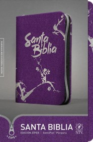 NTV Santa Biblia Edicion ziper, Purple Imitation Leather with Zipper  -     By: Tyndale