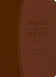 Biblia de Estudio Ryrie Ampliada-Rvr 1960, Bonded Leather, Brown/Dark Brown
