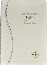 Saint Joseph Medium Bible-NABRE, Imitation Leather, Cream  -