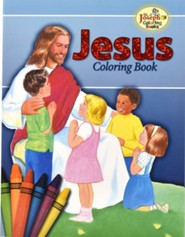 Jesus Coloring Book, Pack of 10    -     By: Catholic Book Publishing Co