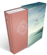NLT Illustrated Study Bible, Deluxe Blush Rose Linen Harcover with Slipcase