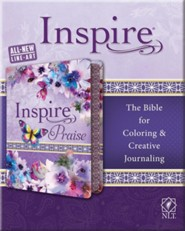 NLT Inspire PRAISE Bible, Purple Imitation Leather with Floral Design