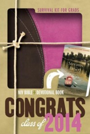 2014 Survival Kit for Grads, Girls' Edition, NIV Thinline Bible, Compact: Girls' Edition, Italian Duo-Tone - Slightly Imperfect
