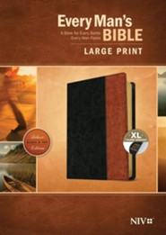 Imitation Leather Black / Brown Large Print Book