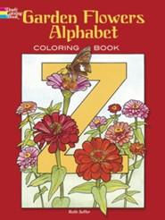 Garden Flowers Alphabet Coloring Book
