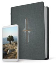 Hardcover Gray Black Letter