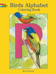 Birds Alphabet: Coloring Book