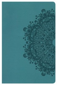HCSB Ultrathin Reference Bible, Teal LeatherTouch, Thumb-Indexed  -