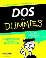 DOS for Dummies, Edition 0003  -     By: Dan Gookin