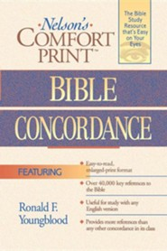 Nelson's Comfort Print Bible Concordance    -     By: Ronald F. Youngblood