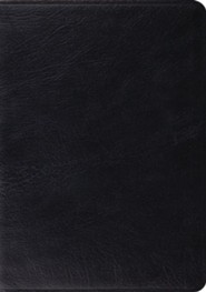 ESV Study Bible, Black Genuine Leather, Indexed