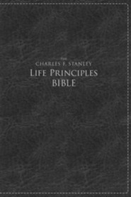 NKJV Charles F. Stanley Large Print Life Principles Bible Imitation leather, Black