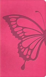 Imitation Leather Pink Red Letter Butterfly