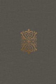 ESV Compact Bible, Cloth over Board, Gray with Royal  Imprint  -