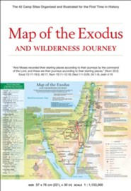 Map of the Exodus and Wilderness Journey  -     By: Periplus Editions