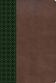Imitation Leather Brown / Green