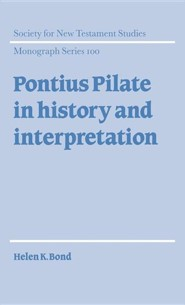Pontius Pilate in History and Interpretation, Cloth, Blue
