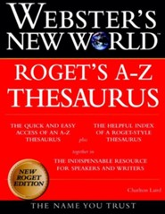 Websters New World Roget's A-Z Thesaurus, Edition 0004
