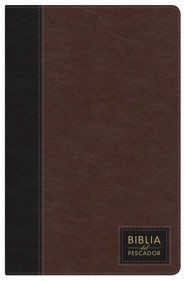 NTV Biblia del Pescador, siena oscuro s&#237mil piel de lujo con &#237ndice, NTV Fishers of Men Bible, Dark Sienna Leathertoouch, Thumb-Indexed  -