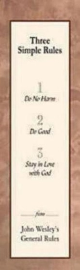 Three Simple Rules Bookmark, Package of 25  -     By: Abingdon Press