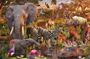 African Animals, 3000 Piece Puzzle   -