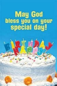 Happy Birthday Postcard (Child Cake), Package of 25