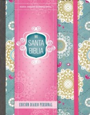 Santa Biblia NVI, Ed. Diario Personal, Floral  (NVI Holy Bible, Journal Edition, Floral)