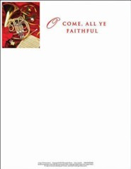O Come, Christmas Music Letterhead (Package of 50)