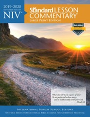 2019-2020 NIV Standard Lesson Commentary, Large-print softcover