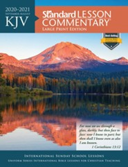 2020-2021 KJV Standard Lesson Commentary, Large Print Edition