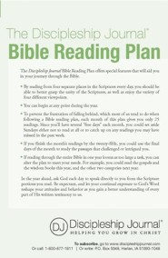 The Discipleship Journal Bible Reading Plan  -     By: Discipleship Journal