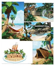 Shipwrecked: Giant Decorating Poster Pack (set of 5, including logo)