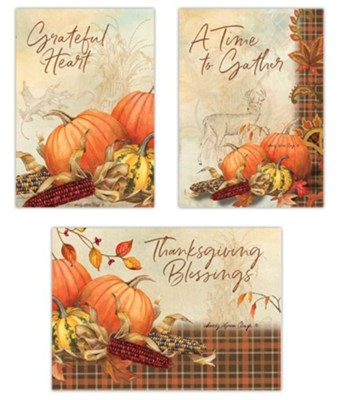 Harvest Song, 12 Count Thanksgiving Boxed Cards   -     By: Sandy Clough