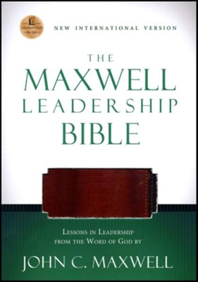 NIV Maxwell Leadership Bible, Leathersoft Rich Auburn & Dark Roast  -     By: John C. Maxwell