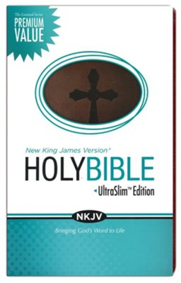 NKJV Essential Ultraslim Bible, Leathersoft Rich Chestnut  -