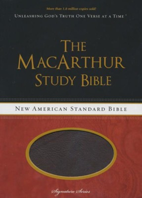 NASB MacArthur Study Bible, Leathersoft Cranberry & Earth Brown  -     By: John MacArthur