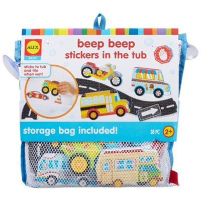 Beep Beep Stickers in the Tub  -