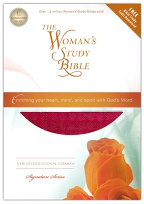 NIV Woman's Study Bible, Leathersoft Rich Rose  -