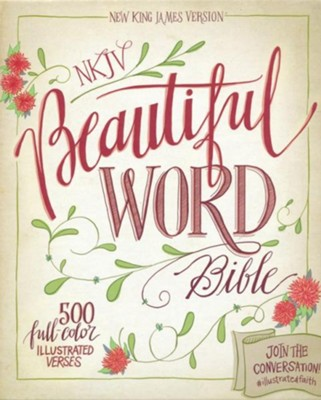 NKJV Beautiful Word Bible--soft leather-look, taupe/peacock blue - Imperfectly Imprinted Bibles  -