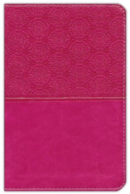 NIV Compact Thinline Bible, imitation leather Pink, Red Letter Edition  -