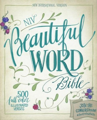 NIV Beautiful Word Bible--soft leather-look, chocolate/turquoise  -