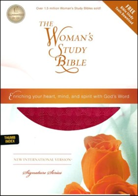 NIV Woman's Study Bible, Leathersoft Rich Rose Indexed  -